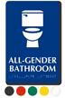 All-Gender Bathroom Sintra Restroom Sign With Braille