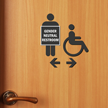 Handicap Gender Neutral Restroom Die Cut Sign Kit