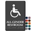 All-Gender TactileTouch Restroom ISA Symbol Braille Sign
