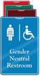 Handicap Gender Neutral Restroom ShowCase Sign