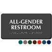 All-Gender Restroom Sign with Braille