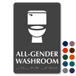 All-Gender Washroom TactileTouch Sign with Braille