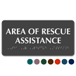 Area Of Rescue Assistance TactileTouch Braille Sign