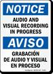 Bilingual Audio Visual Recording In Progress Sign