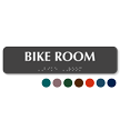 Bike Room Tactile Touch Braille Sign