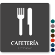 Cafeteria Spanish Tactile Touch Braille Sign