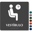 Vestibulo Spanish Tactile Touch Braille Sign
