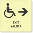 Bilingual Exit Salida Right Arrow Sign