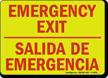 Bilingual Emergency Exit Glow-in-the-Dark Sign
