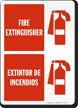 Bilingual Fire Extinguisher Extintor De Incendios Sign