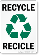 Bilingual Recycle Recicle Sign
