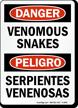 Bilingual Venomous Snakes Serpientes Venenosas Sign
