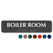Boiler Room Tactile Touch Braille Sign