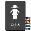Girls Restroom Sign