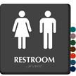 Restroom Men Women Sign