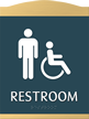 Restroom, with Men/ISA Handicapped Graphic Braille Sign