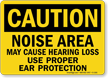 Noise Area Use Proper Ear Protection Sign