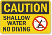 Pool Caution Sign onmouseover =