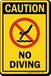 Caution No Diving Sign