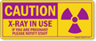 Caution - X-Ray In Use Graphic Sign