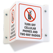Turn Off Cellular Phones Two-Way Radios Sign