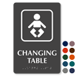 Braille Changing Table Sign With Graphic