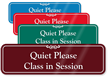 Quiet Please Class In Session Showcase Wall Sign