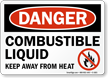 Combustible Liquid OSHA Danger Sign