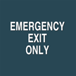 Emergency Exit Only Contour Exit Sign