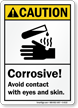 Corrosive Avoid Contact With Eyes Skin Sign