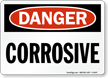 Danger Corrosive Sign
