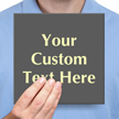 Create Own Text Glowing Engraved Sign