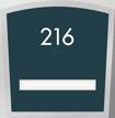 Custom Apex Room Number Braille Sign - 1 Slot, 6.875