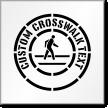 Custom Crosswalk Text Sign Stencil