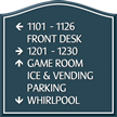 Santera HT Directional Sign w/Border, 11.875 in. x 11.875 in.