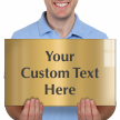 Custom Engraved Brass Sign, Text Upto 9 Lines