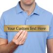 Custom Text Engraved Brass Sign