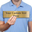 Custom Text Upto 3 Lines, Engraved Brass Sign