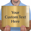 Custom Engraved Brass Sign, Text Upto 11 Lines