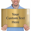Custom Engraved Brass Sign, Text Upto 12 Lines