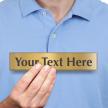 Custom Text Engraved Brass Sign