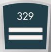 Custom Apex Room Number Braille Sign - 2 Slot, 6.875
