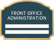 Florence Suite/Dept. ID Sign - 2 Slot, 8.875 in. x 11.875 in.
