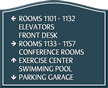 Santera HT Directional Sign w/Border, 13 in. x 16 in.