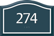 Santera HT Room Number Sign w/Border, 4 in. x 6 in.