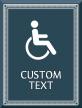 Azteca Custom Regulatory Sign with Border, 11