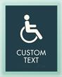2 Line Custom Regulatory w/Symbol
