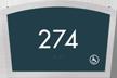 Apex Room Number Braille Sign, 4.25