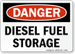OSHA Danger Diesel Fuel Storage Sign