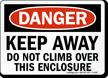 Danger Keep Away Do Not Climb Sign